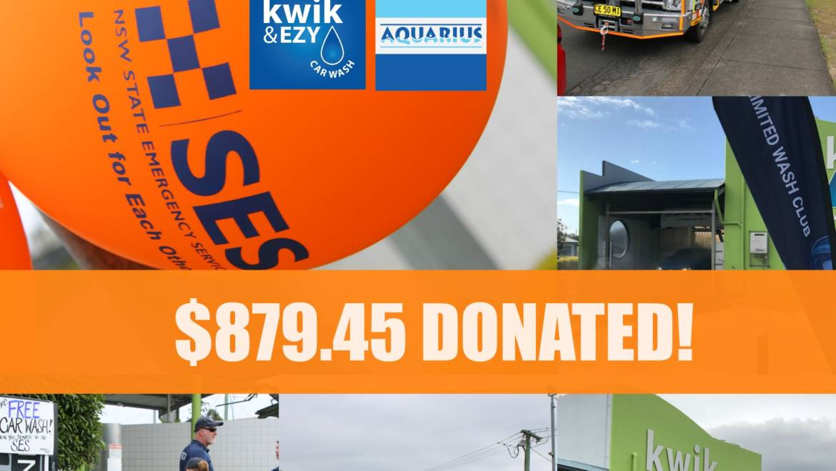 Kwik & Ezy + Aquarius Car Wash Community Day for the Taree SES